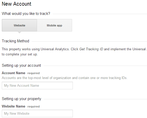 setting up google analytics for website