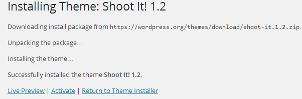 install a theme