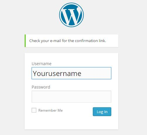 recover wordpres password