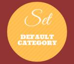 change default category