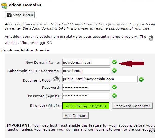 how to add a new domain
