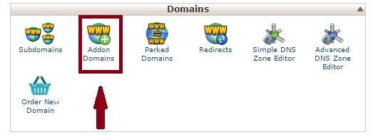 how to add an addon domain