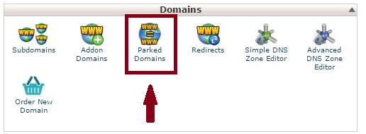 how to park a domain