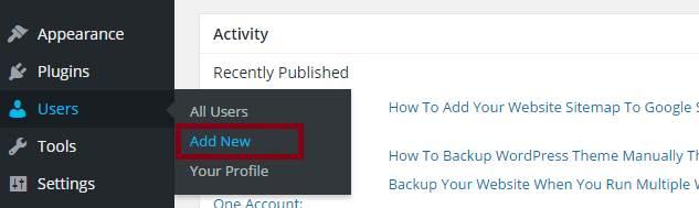 add new users in wordpress