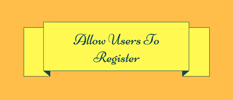 allow users to register