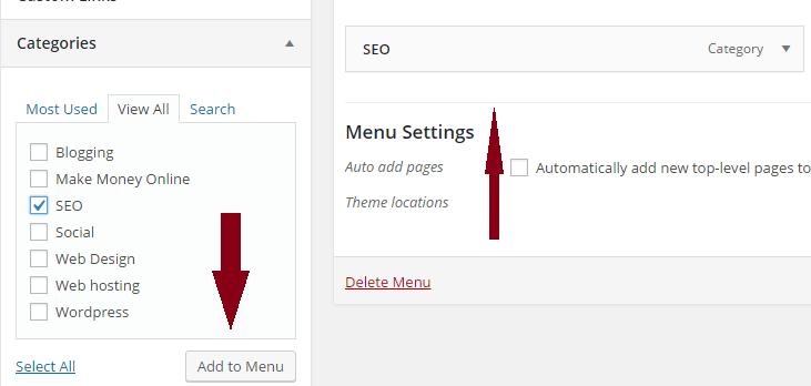 how to create navigation menu in wordpress