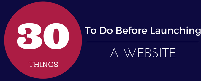 what to do before publishing website