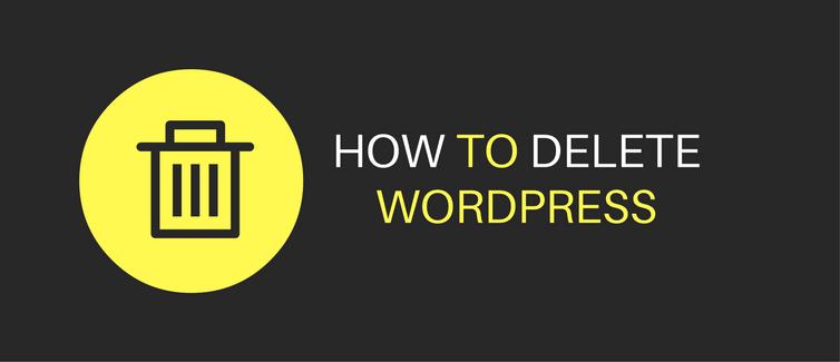 how to delete wordpress