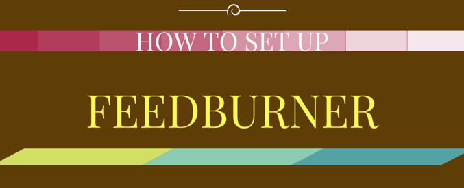 how to set up feedburner for wordpress