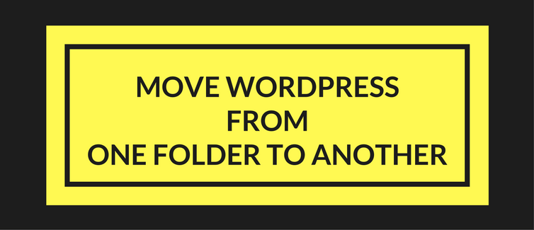 move wordpress from one folder to another