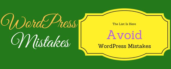 wordpress beginner mistakes