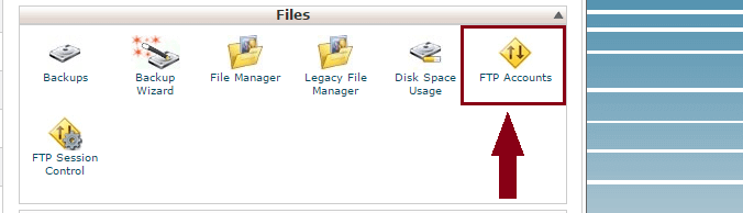 delete ftp account in cpanel