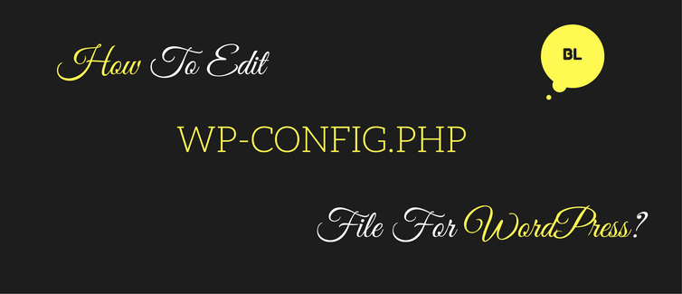 edit wp-config.php file