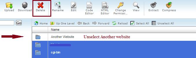 delete wordpress from cpanel