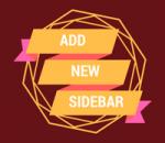 add new sidebar in wordpress theme