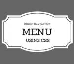 design navigation bar using css