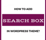 add search box in wordpress