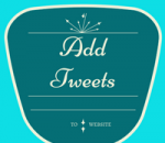 show tweets on website