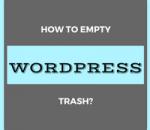 empty wordpress trash