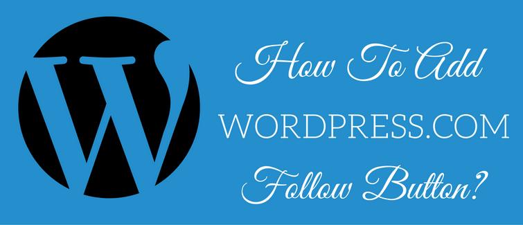 add wordpress.com follow button