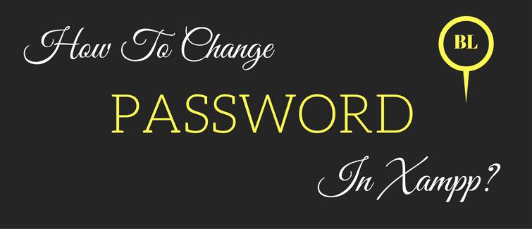 change password in xampp