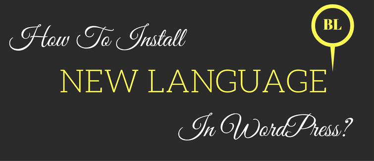 how to install new language in wordpress