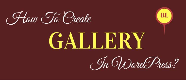 create gallery in wordpress