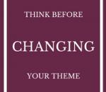 changing wordpress theme