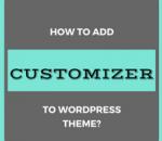 add customizer