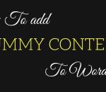 add dummy content to wordpress