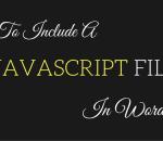 include a javascript file in wordpress