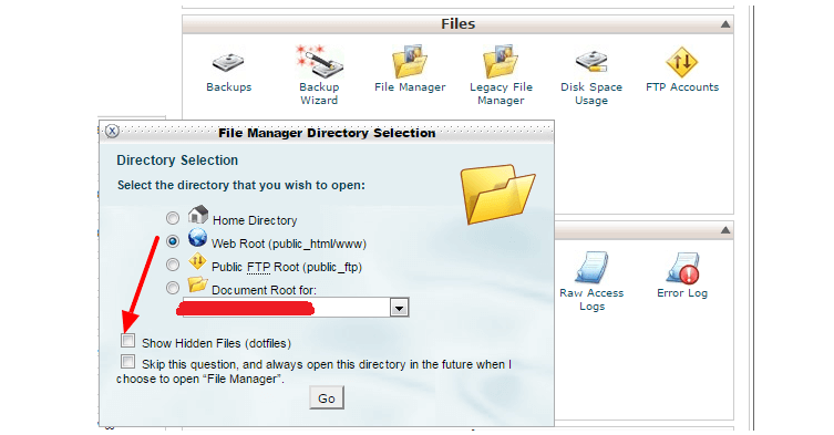 can't find htaccess file