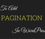 add pagination in wordpress post without plugin