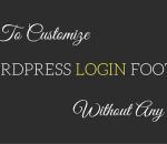 customize wordpress login footer