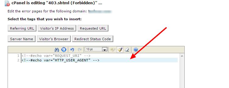 custom error pages