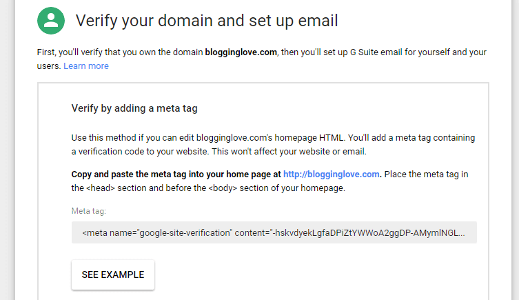 create a professional email address