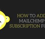 how to add mailchimp subscription form