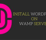 install wordpress on wamp server