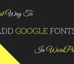 add google web fonts in wordpress theme