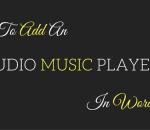 add an audio music player in wordpress sidebar