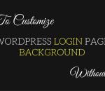 customize wordpress login page background