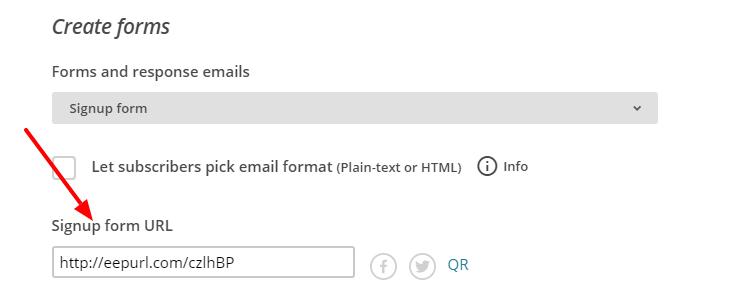 mailchimp box adding