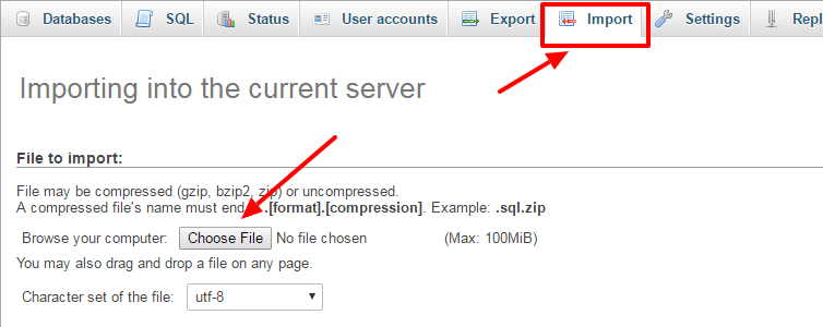 move site from WAMP to live server