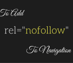 add nofollow links to wordpress navigation menu items