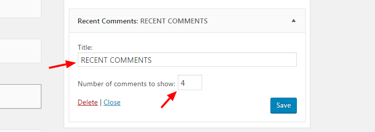 add recent comments
