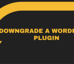 Downgrade a WordPress plugin
