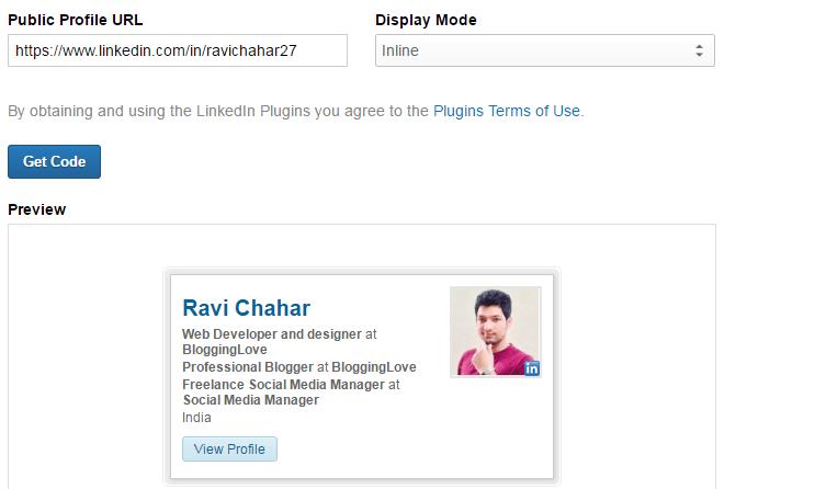 add linkedin widget