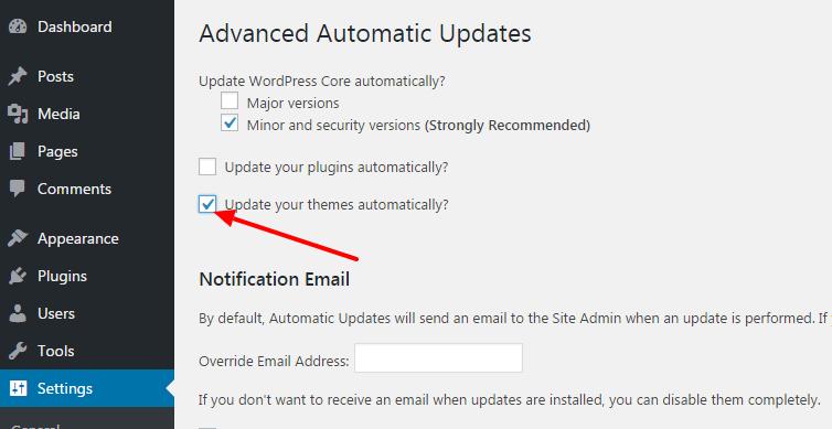 enable theme updates