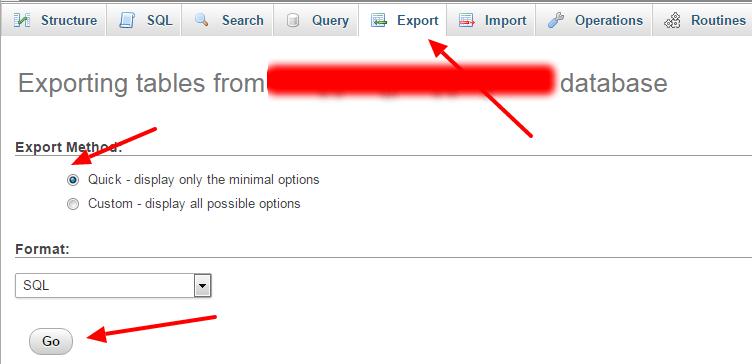 ways to backup database