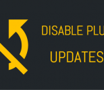 Disable your WordPress plugin updates
